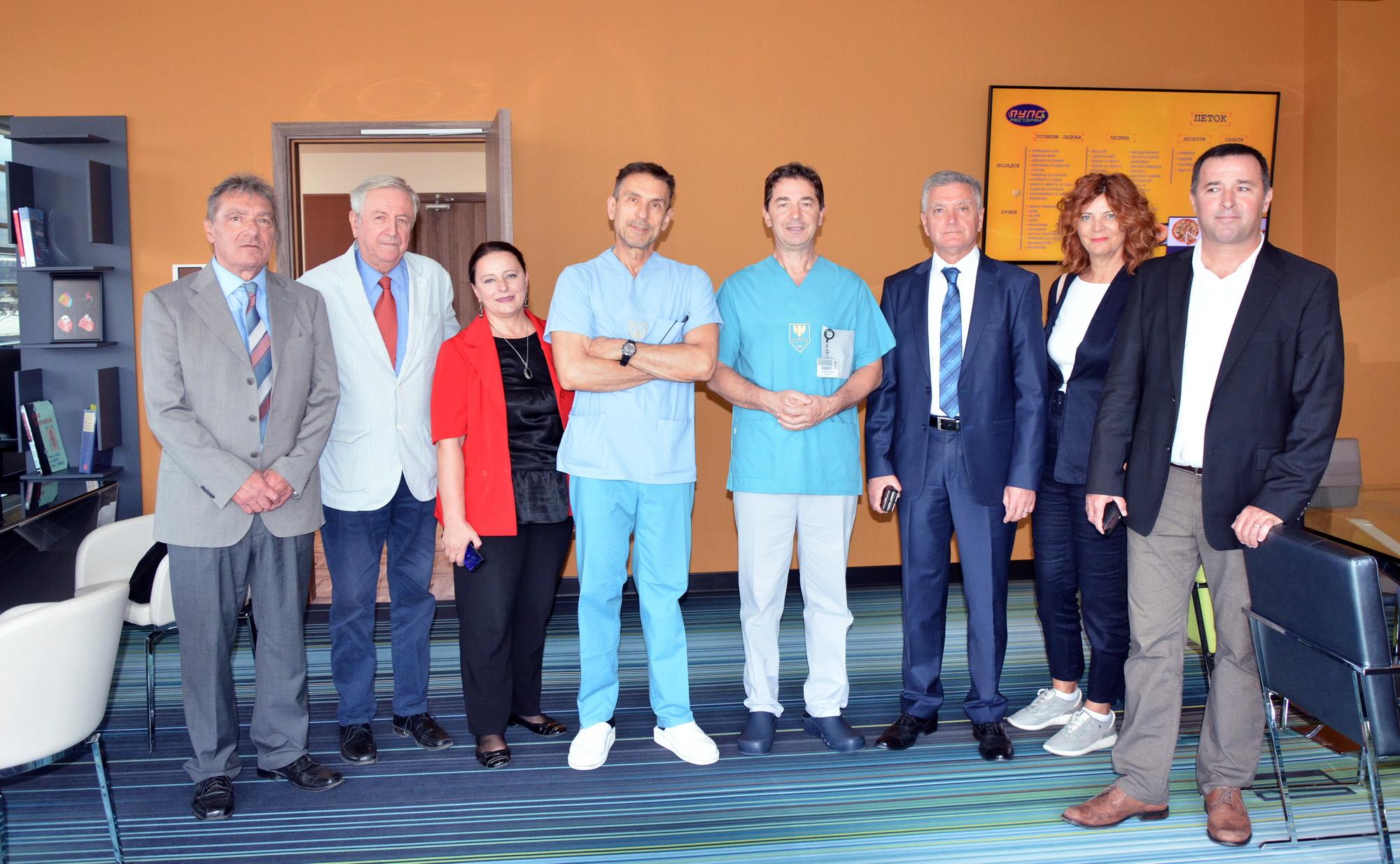 The Shibenik Mayor Zheljko Buric Meets With Dr. Zhan